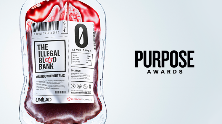 The Illegal Blood Bank wins twice at the Purpose Awards