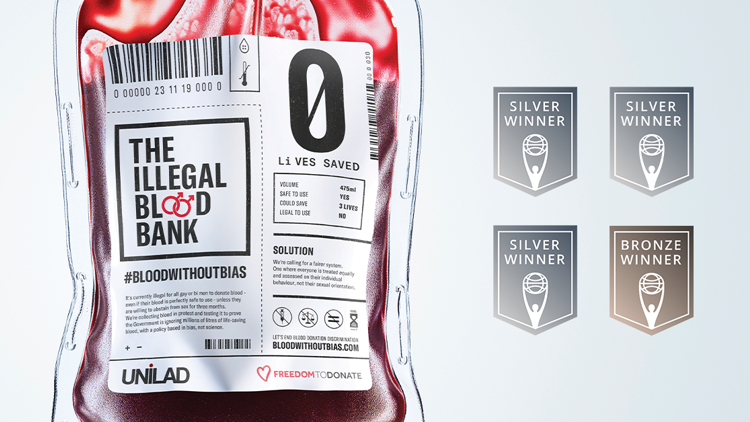 Four Clio Awards for The Illegal Blood Bank